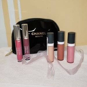 Chanel makeup bag & 5 lip colors
